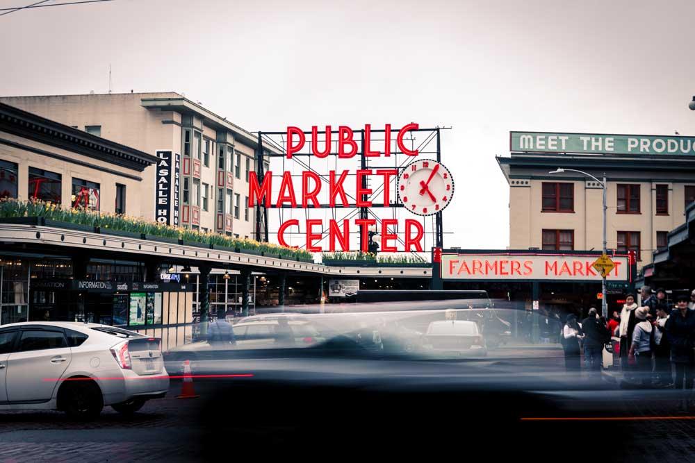 Pike's Place Public Market in Seattle, Washington