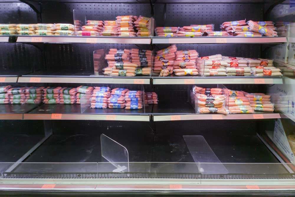 grocery stores are low on food and supplies